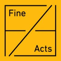 Fine Acts logo yellow black